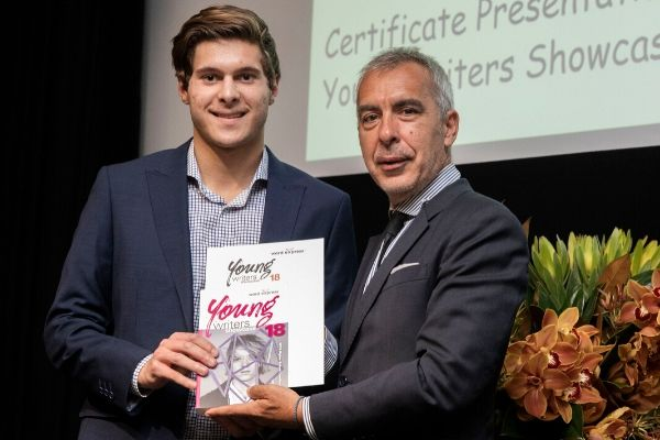 St Patrick's College Sutherland - student given young writers award
