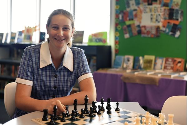 St Patrick's College Sutherland - student playing chess