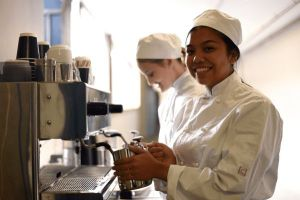 St Patrick's College Sutherland - students in barista training