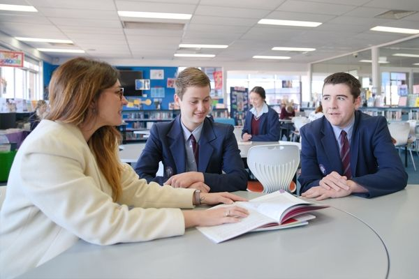 St Patrick's College Sutherland - teacher talking to students