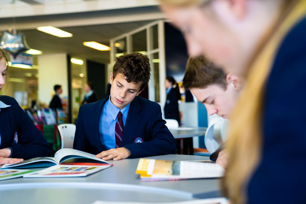 St Patrick's College Sutherland - students studying